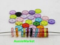 50 x disc beads loose 10mm mixed colour necklace bracelet jewellery parts abacus