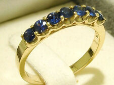 R183 Genuine Solid 9ct 9K Gold Natural Sapphire Eternity Ring Anniversary size M