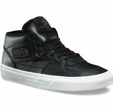 Vans Half Cab DX (Leather) Black Gold Skate Shoes Mens Size 8