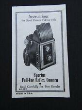New listing Spartus Full-Vue Reflex Camera Genuine Original User Instruction Manual