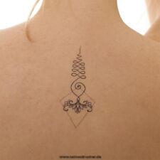 2 x 11-teiliges Unalome Tattoo Set - 22 Buddhistische Symbole - Henna Style (2)