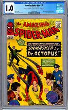 AMAZING SPIDER-MAN #12 CGC 1.0 *3RD DOC OCTUPUS* STAN LEE STEVE DITKO ART 1964