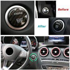 100% Real Carbon Fiber Car Engine Start Stop Button Sticker For Mercedes Benz C