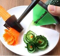 Kitchen Spiral Vegetable Fruit Slicer Carving Roll Cutter Peeler Gadgets Tools