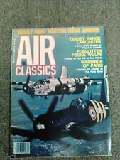 AIR CLASSICS magazine 1978 all 12 issues