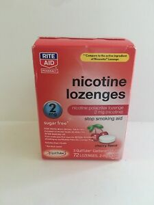 Nicotine Gum 2mg Cherry Flavor, 72 Coated Pieces by Rite Aid, Stop Smoking Aid