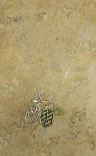 """STERLING SILVER CULTURED FRESHWATER PEARL CHARM LUCK PENDANT AND 18"""" CHAIN QVC"""