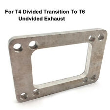 Stainless Steel 8-Bolt Exhaust Turbo Manifold Flange For T6-T4 Undivided Exhaust