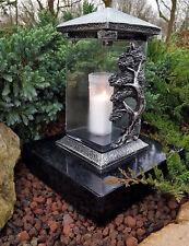 Grablaterne Kerzen Grablampe Lampe Grableuchte Grablicht Baum Grabschmuck Engel