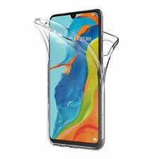 Cover Per Huawei P30 P 30 Fronte Retro 360 Trasparente Custodia Silicone Back