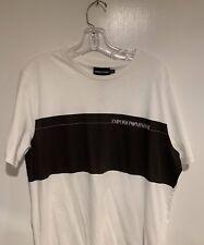 Mens NWT White Emporio Armani Logo T-Shirt Size XXL