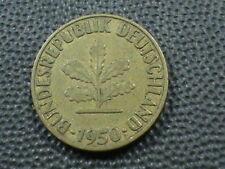 WEST GERMANY  5 Pfennig  1950  -  F  ,  $ 2.99  Maximum  shipping  in  USA
