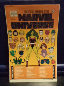 The Official Handbook of the Marvel Universe Master Ed 6 (11 Loose leaf Sheets)