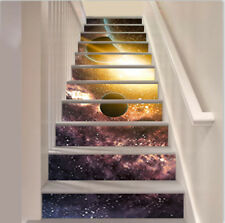13pcs Self-adhesive 3D Stars of Planet and Galaxy PVC Staircase Stickers Murals