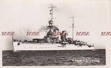 "Royal Navy Real Photo. HMS ""Hawkins""  Heavy Cruiser. Flag Ship. c 1919"