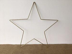 Gold Wire metal star - 25cm - Spring/Valentines/Easter Wreaths. Crafts, Macrame