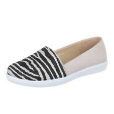 Damen Slip-ons Sneakers Lack Slipper Metallic Flats 811404 Schuhe Damenschuhe Sneaker