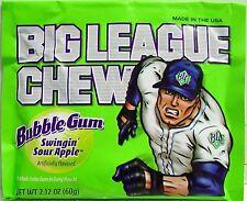 Big League Chew-Holt Sour Apple-Bubblegum-Kaugummi Süßigkeiten - 24 Pack