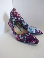 Easy Street Womens Purple Floral Pump Heels Shoes Size 7.5M