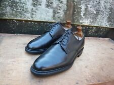 CROCKETT & JONES DERBY –  BLACK - UK 9 – GRASMERE – VERY GOOD CONDITION