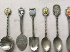 Lot Of 18 Souvenir Spoons Various States And Others.