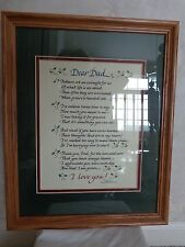 Dear Dad, a Beautiful Tribute Verse Framed & Matted (#1539)