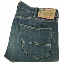 Denim And Supply Ralph Lauren Men's Jeans 38x32 Slouch Fit Blue Dirty Wash