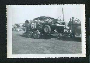 Vintage Photo 1955 Ford Demolition Derby Car 445159
