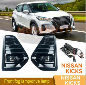 FOR Nissan Kicks 2021-2022 LED Front fog lamp/drive lamp with harness switch kit