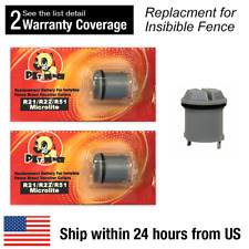 2 pcs Pet-Fence Dog Collar Batteries for Invisible Fence R21 R22 R51 Microlite