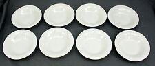 "Totally Today White Porcelain Modern Design Salad Bowl - 7"" Diameter - Set of 8"