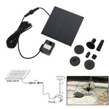 Solar Power Fountain Water Pump Panel Kit Pool Home Garden Fish Pond TN2F
