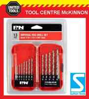 """P&N BY SUTTON 13pce HSS IMPERIAL DRILL SET (1/16"""" – 1/4"""") – REPLACES FROST 92250"""