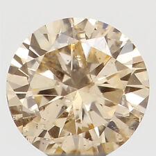 Natural Loose Diamond Orange Color Round I1 Clarity 3.20X1.80 MM 0.11 Ct L5083