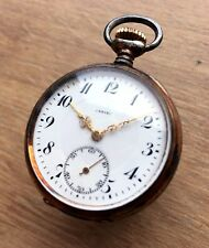 ✩ Vintage ZENITH Silver 800 rare SWISS MADE old pocket watch antique WORKING