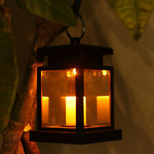 FM_ KF_ Solar Flameless LED Candle Light Garden Outdoor Hanging Lantern Lamp Dec