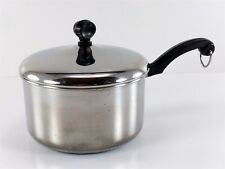 Early Farberware Sauce Pan 2 Quart Stainless Steel w/Lid Aluminum Clad NYC USA