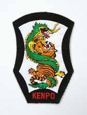 """Kenpo Tiger & Dragon Patch 4.25"""" x 6.5"""" Iron On / Sew On New"""