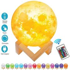 3D Printing Moon Lamp Moonlight Touch Color Changing USB LED Night Lunar Light