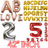 "42"" INCH GOLD SILVER Foil Helium Letters Numbers Bunting Banner Party Balloon"