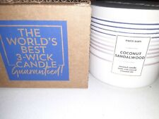 Brand New Bath and Body Works Scented 14.5 oz 3-Wick Candle Coconut Sandalwood