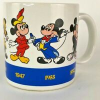 Disney Vintage Applause Mickey Mouse Throughout the Years 1928-1990 Coffee Mug