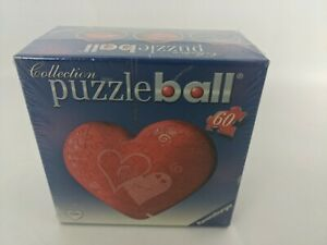 Puzzleball - Heart  - Ravensburger 11cm wide SEALED 60 pieces jigsaw ❤️