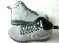 Nike Manoa Leather Men's Work Boots Wolf Grey Thunder Grey Black 454350 004 NEW