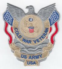 "Cold War Veteran - Us Army Usa embroidered patch 4"" x 4.25"""