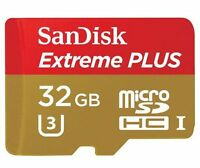 SanDisk Extreme PLUS 32GB microSDHC UHS-3 Class U-3 Memory Card - Red/Gold