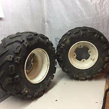 Mojave 250 KSF atv quad rear wheels tires 21x7-10 mud paddle tread no leaks