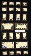 """23"""" Fabric Panel - Troy Riverwoods Summer Vacation Memories Gift Tag Label Black"""
