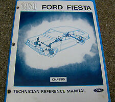 1977 FORD FIESTA Technician Reference Manual 40 pgs CHASSIS auto reference CARS