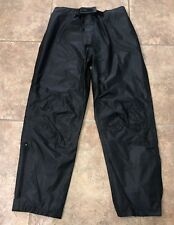 Mossi Motosports Mens Black Mesh Lined Motorcycle Pants Size M